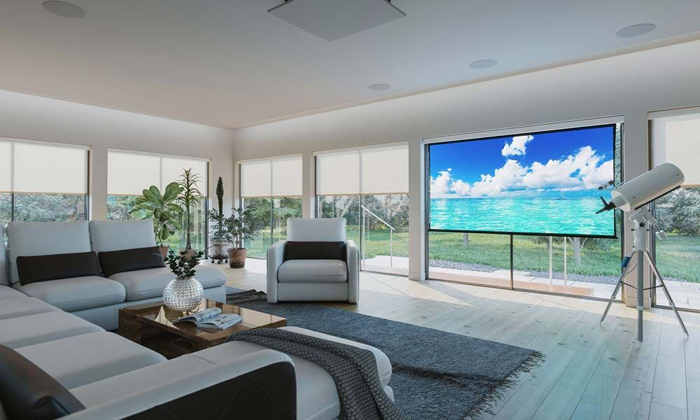 Smart Home Automation, Motorized Window Treatments, Camano Island WA, Fusion 9 Design,Screen Innovations